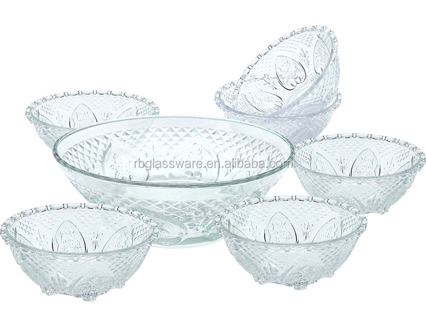 7PC Glass Salad Bowl Set