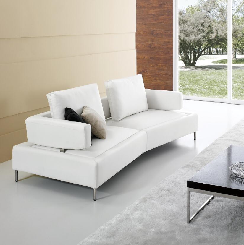 Modern Noble White Leather Japanese Style Sofa Fancy Sofa