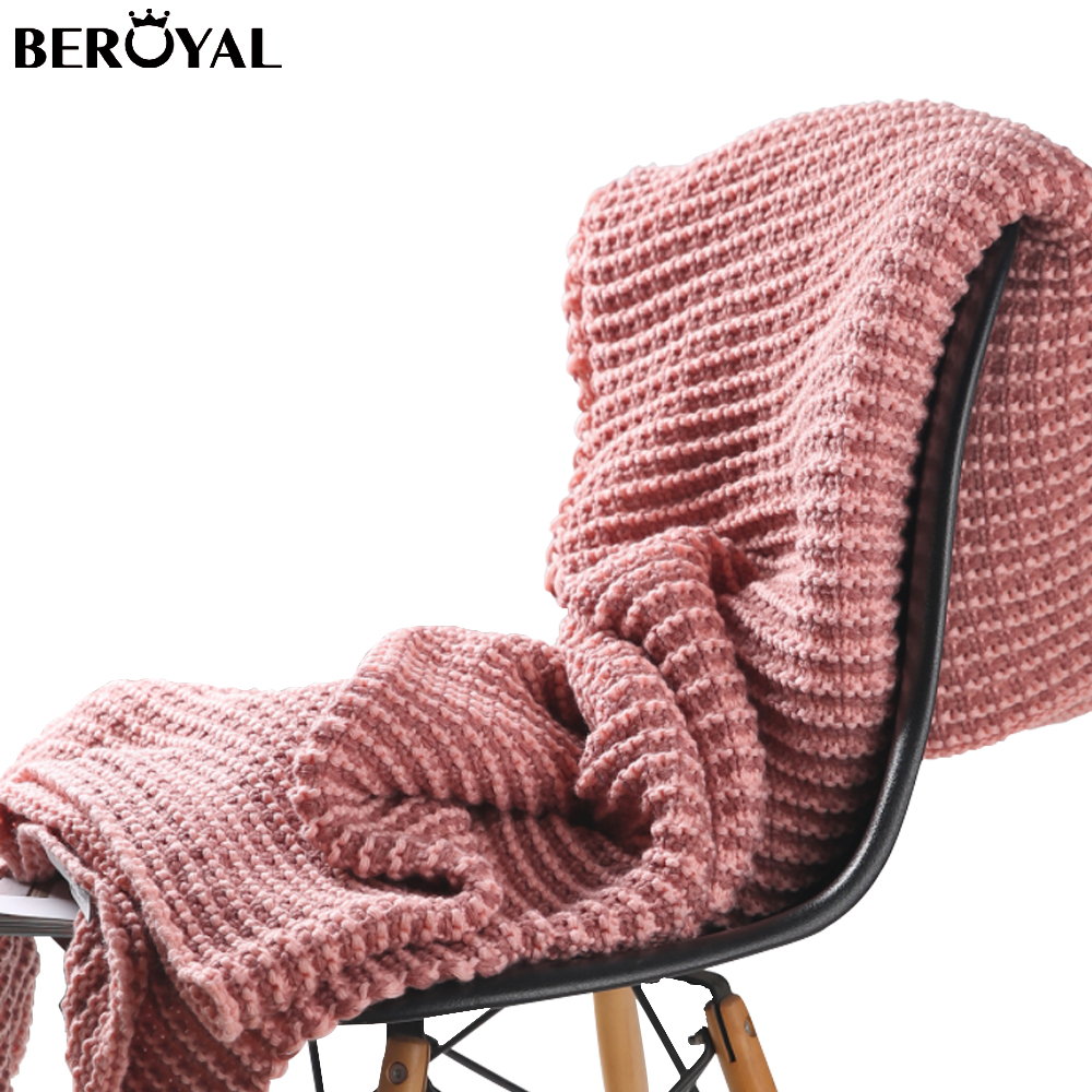 Beroyal Yarn-Dyed Waffle Weave Polyester Knitted Blanket