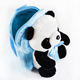 Cute Blue Ribbon Panda Animal Plush Toy School Bag Backpack For Children