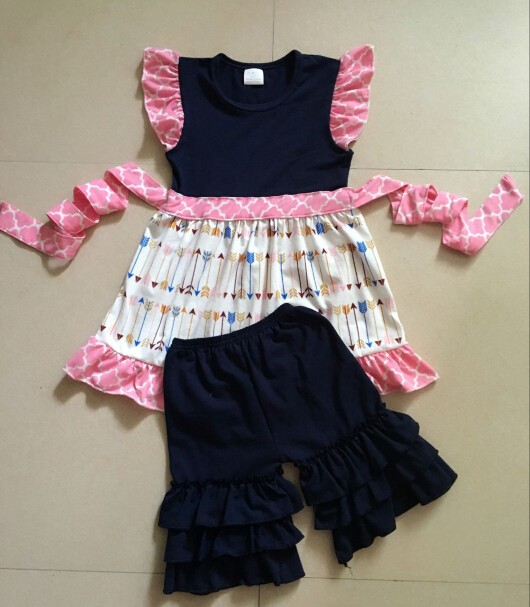 Latest Long Tops Designs Girls Lace Sleeve Flutter Dress Cotton ...