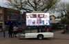 LED video trailer with lifting LED billboard and speakers, YES-T5