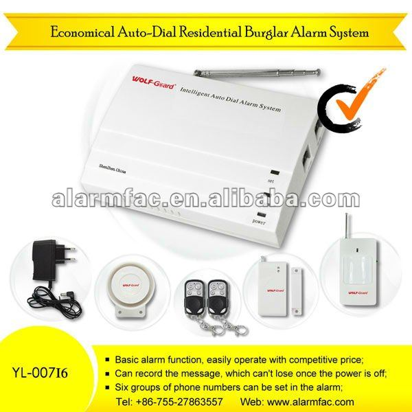 Economical auto-dial residential home burglar mms alarm system YL-007I