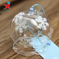 Chinese Snow Flower Glass Wind Chimes
