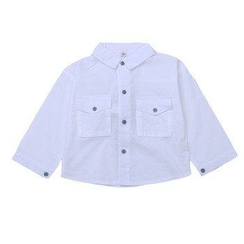 China Supplier Boutique Kids Boys Fashion Solid Long Sleeve Boy Dress Shirts child clothes boys