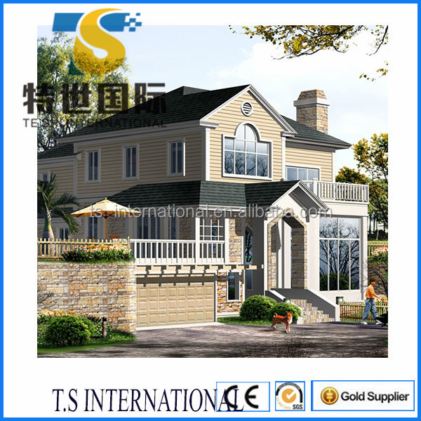 low cost prefab light steel villa for sale in china and Brasil