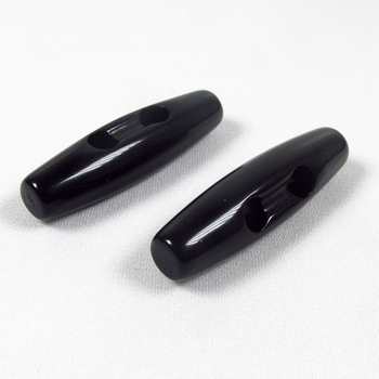 4cm black 2 holes horn toggle button resin toggle button 2 horn resin button
