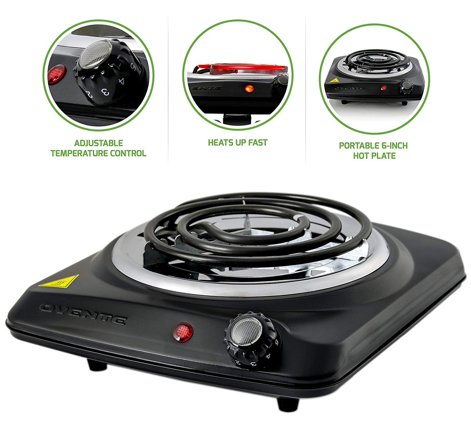 One Burner Electric Stove With Temperature Control Electric Incense Burner White