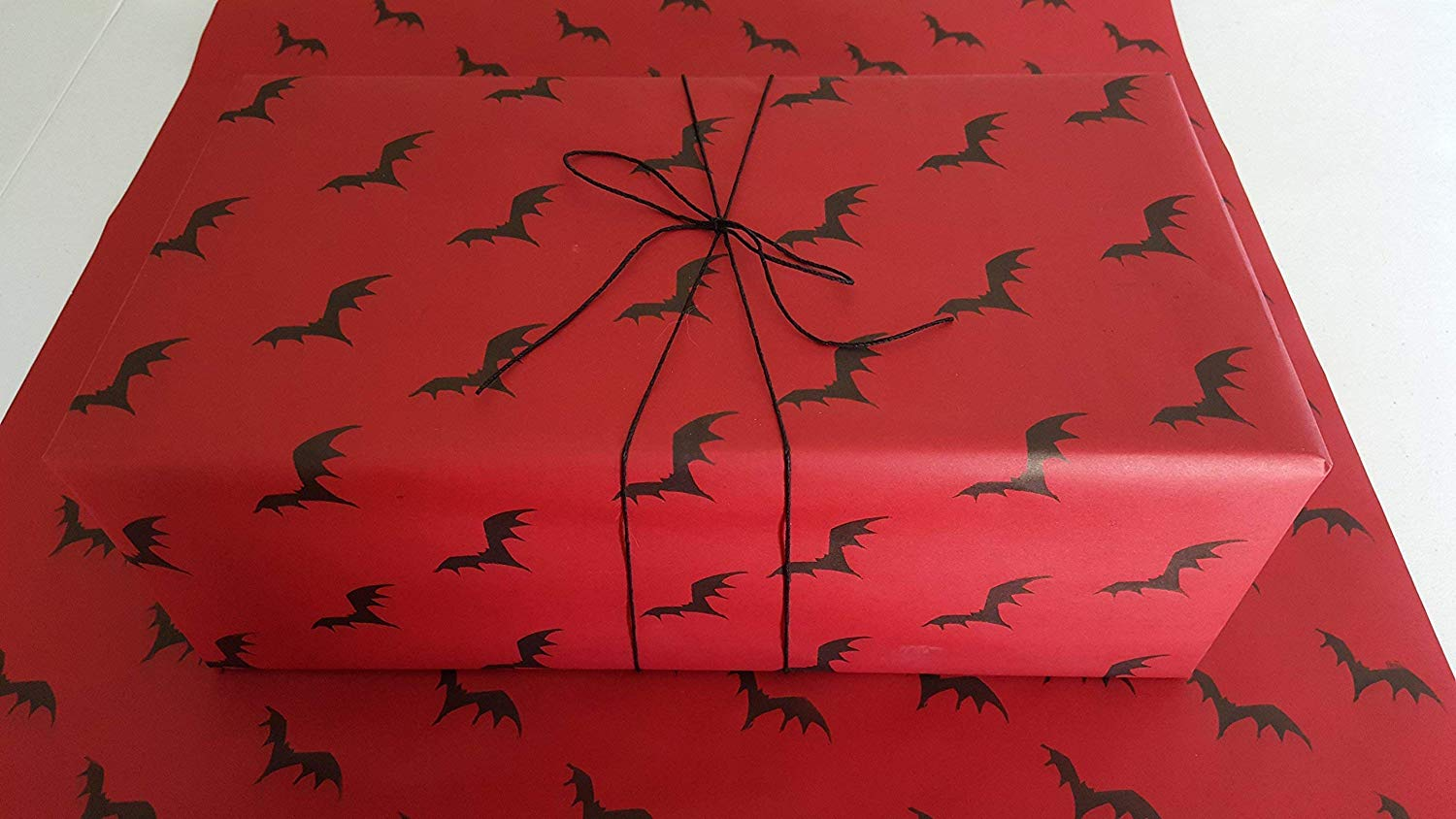 "Get Quotations · Flying Bats Gothic Wrapping Paper - Red 24""x36"" - Premium Handmade ..."