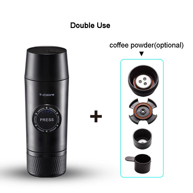 Портативный Электрический Кофе Mechine мини Nespresso кофеварка Встроенная батарея горячей/холодной экстракции порошок и капсулы Открытый путеше...(Китай)