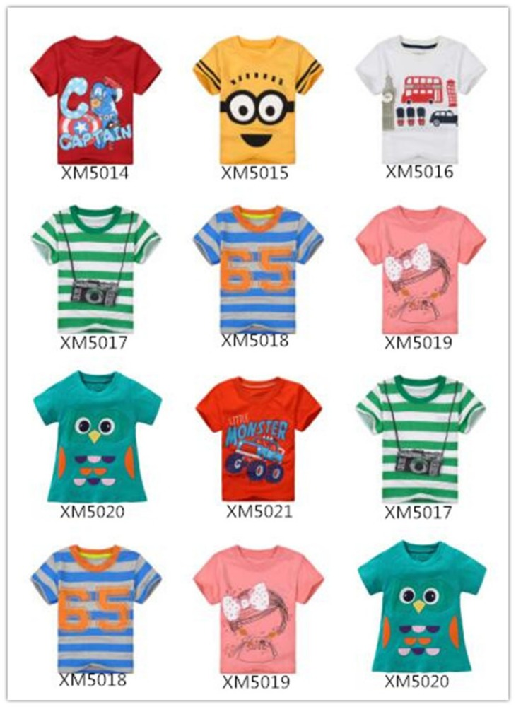 wholesale breathable cotton children boys kids t-shirts design