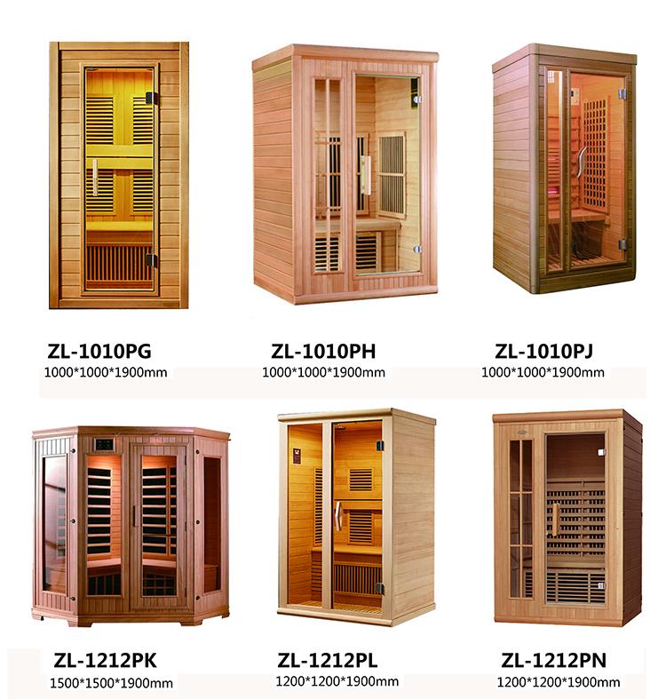 Sauna de salle infrarouge lointain à spectre complet pour 4 personnes