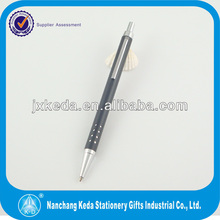 Aluminum ballpoint pen with 24 holes design metal slim ballpoint