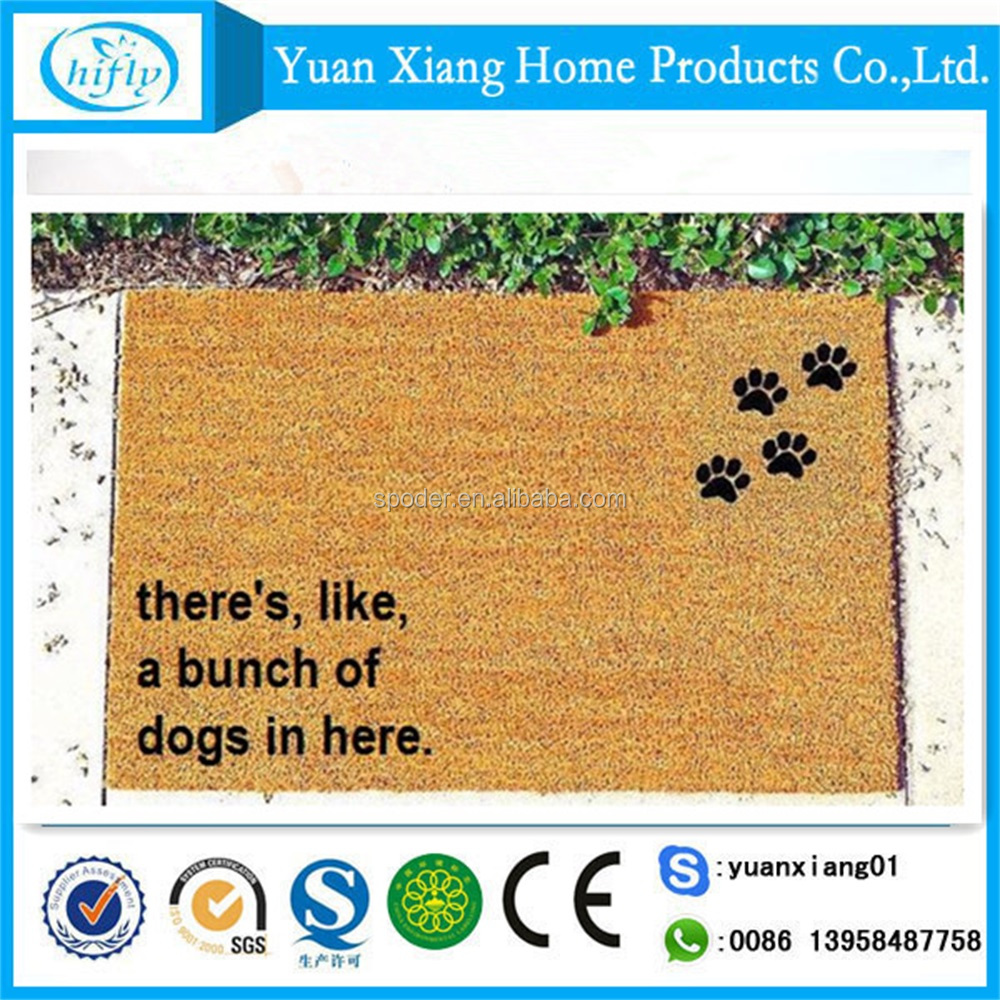 New design printing coir eco-friendly soft anti slip door mat