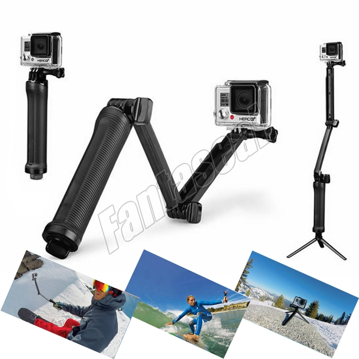 Gopro Accessories Motorcycle Cycling Helmet Extension Arm With Mounts &
