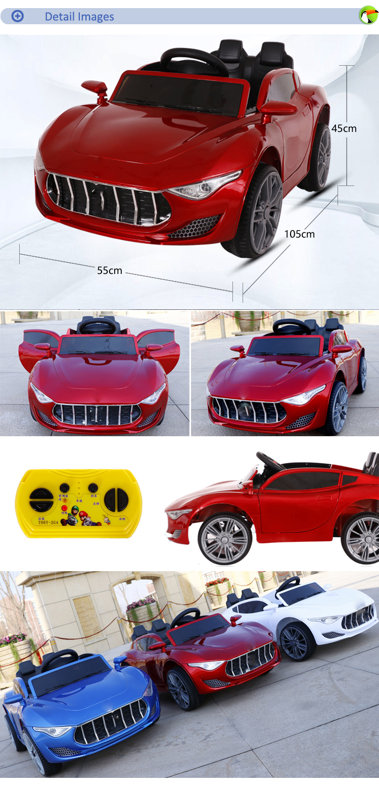 Factory hot selling 6v battery drive electric ride on toy luxury cars for kids