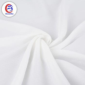 Good price of custom moss crepe polyester cheap chiffon white fabric for dress