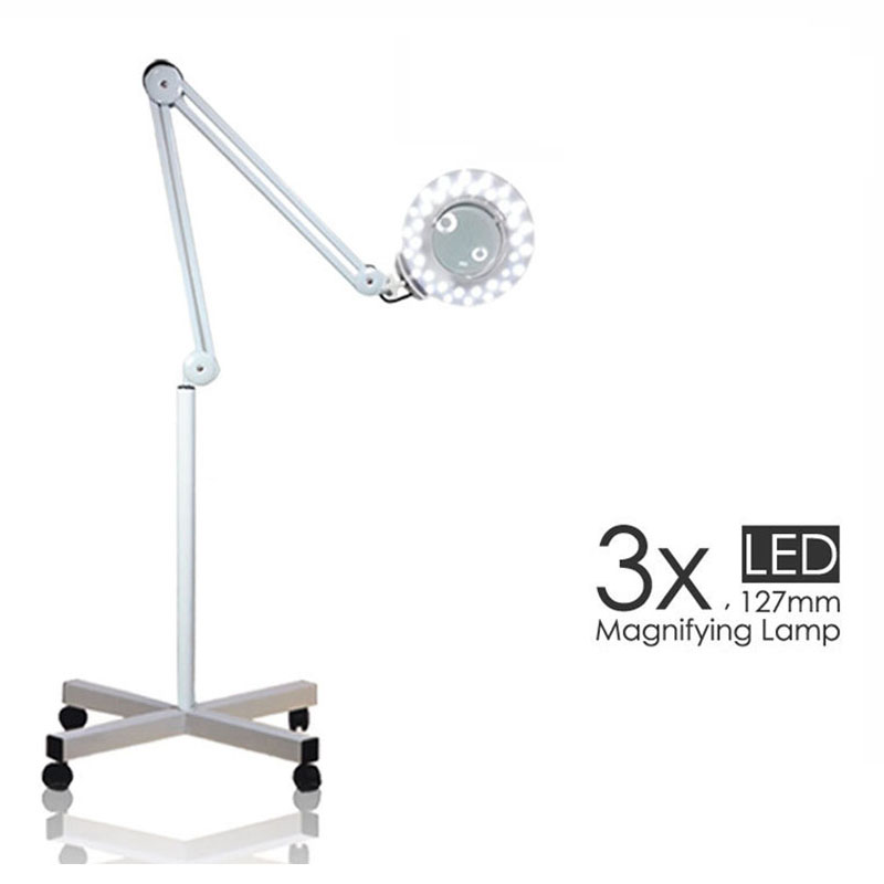 3x glass magnifying beauty salon lamp led light lamp of standing