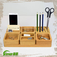 Portable Wood Accessories Cellphone Display Furniture Stand,Mobile Store Display Counter Tray,Unique Desktop Wooden Pen Holder