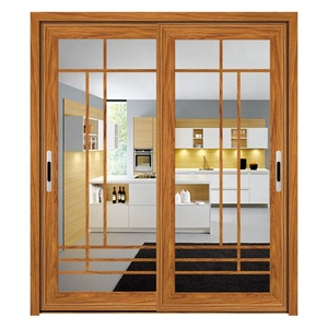 Wanjia double glass sliding door cheap prices