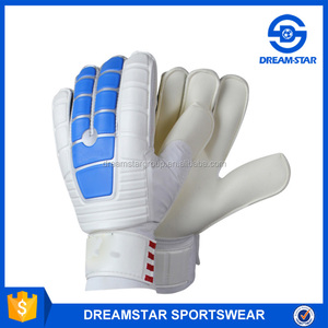 2017 Wholesale White Heat Transfer Logo Goal Keeper Gloves