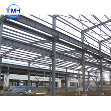 Galvanized prefab steel structure for shopping mall steel building manufacture