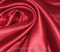 christmas plaid fabric 100%polyester satin white color even dress lining pure wed dress royal satin