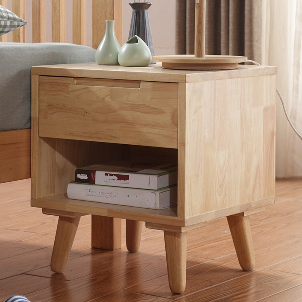 LIUJIANGLONG LJ&L Nordic style lockers drawers, rubber wood bedside tables, multipurpose storage cabinets, bedroom office lockers,Rubber wood,17.715.719.6inch