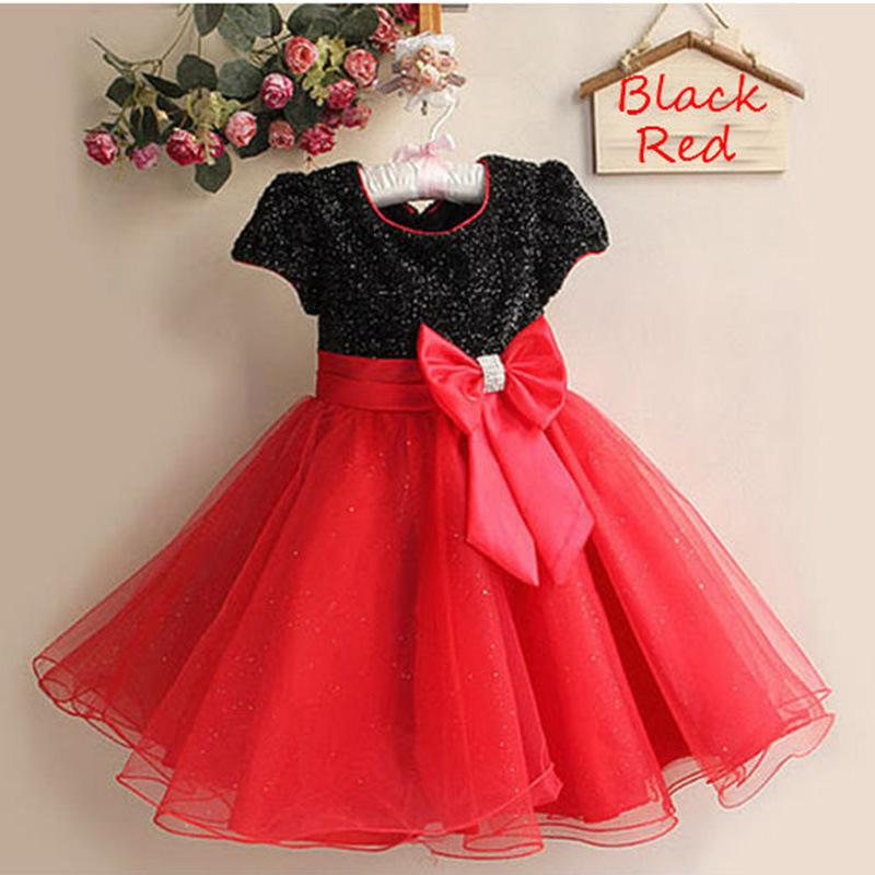 NEW Baby Girls Sequins Dance Dress Children Birthday Wear Party Dress Paillette