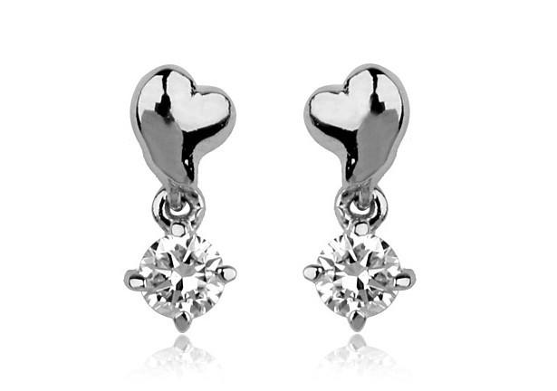 Fashion Designs Heart Shaped Cz Stone Earring 2 Gram Gold ...