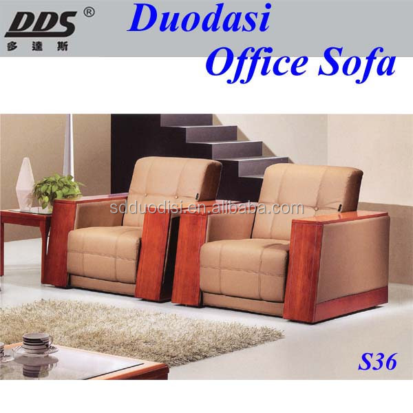 Elegant Simple Modern Top Grain Imported Leather Wooden Sofa Set Designs And Prices  S36