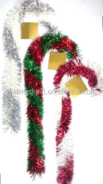 Outdoor Personalized Decorations Wire Tinsel Candy Cane Christmas ornaments with names