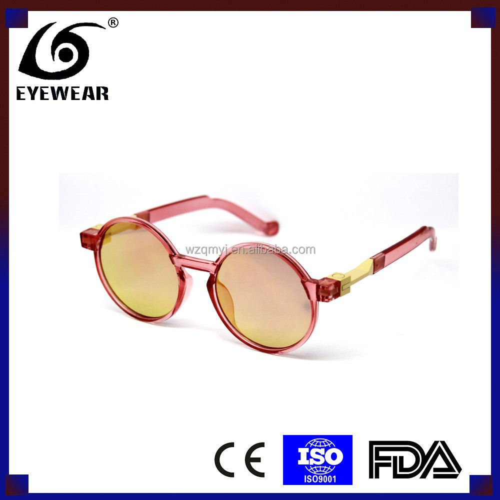 Fashion Jelly Colourful Round Women Plastic Sungalsses OEM CE FDA Is Available