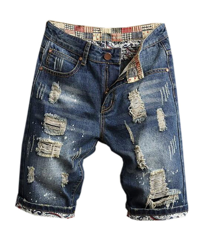 Fensajomon Mens Formal Regular Fit Straight Leg Pencil Jeans Denim Pants Trousers
