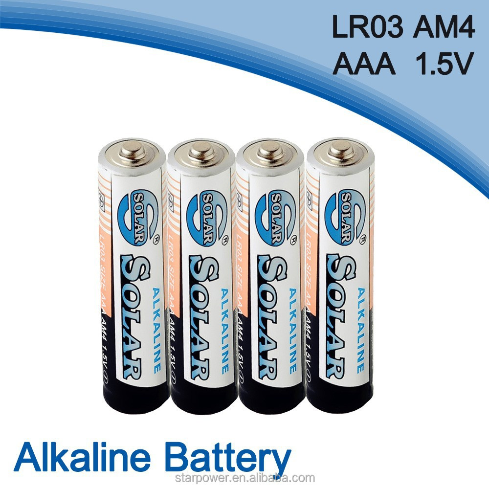Excellent quality am4 size aaa 1.5v alkaline battery lr03