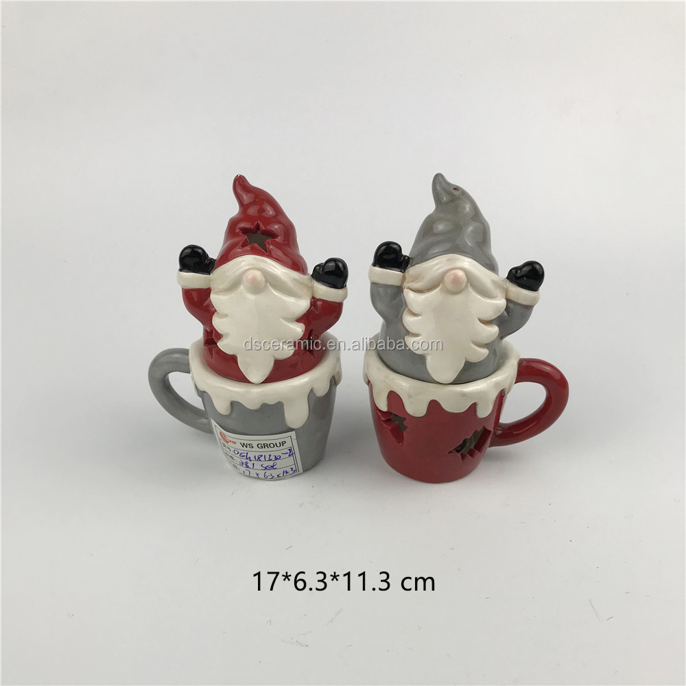 mini snowman christmas ceramic salt and pepper shakers spice jar set
