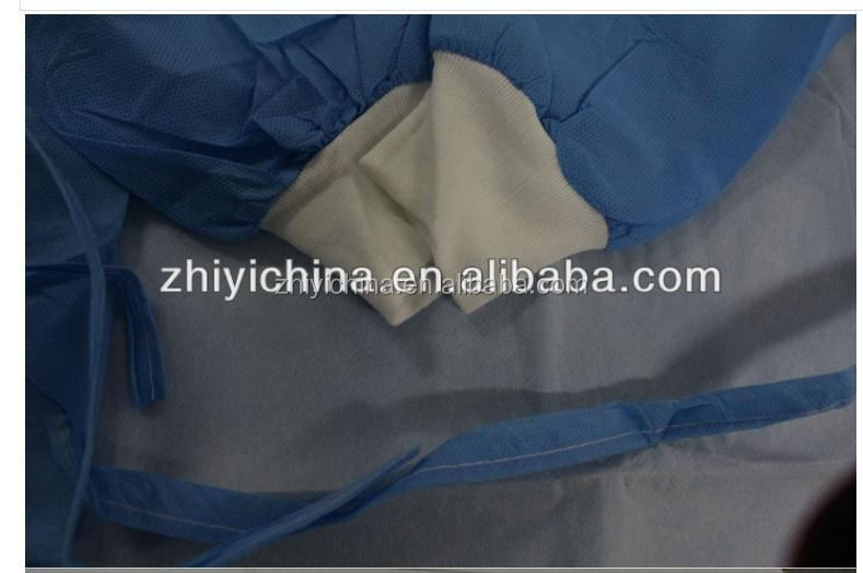 Medical reinforced standard surgical gown