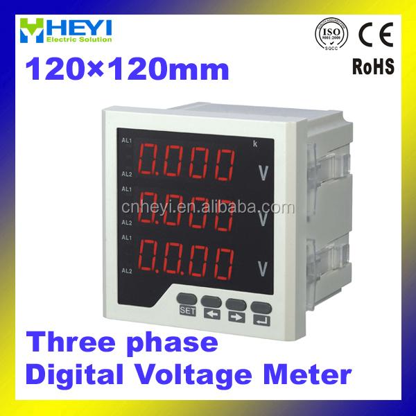 Heyi 3-phase Digital Panel Meter 120*120mm Ac Led Digital Voltage ...