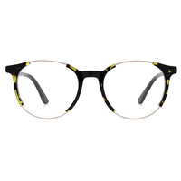 High quality acetate eyewear glasses round retro fashion optical eyeglasses frames