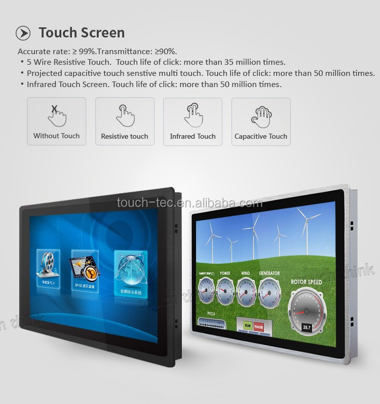 17 Inch Ultra Slim Industrial Touch Screen Monitor Outdoor