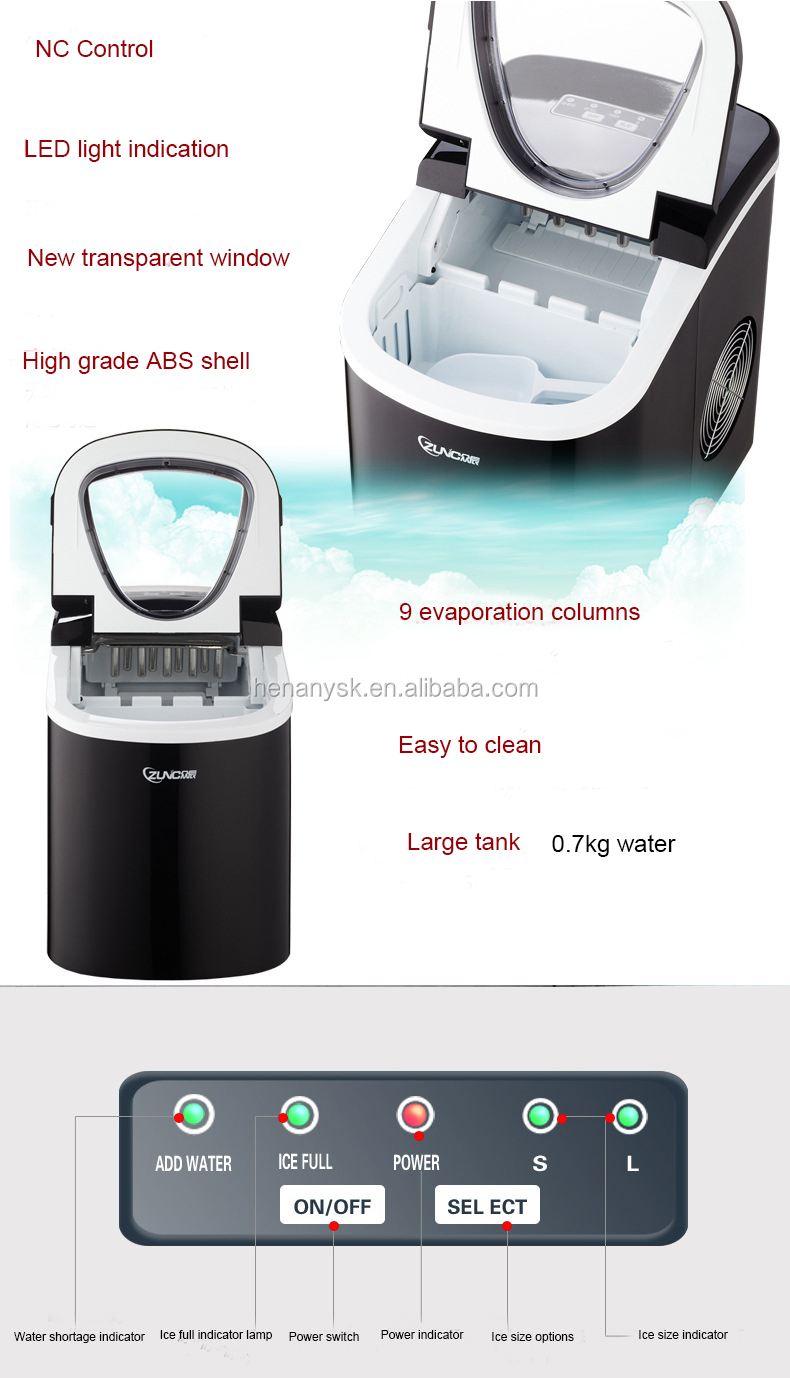 White Color 15-20kg/24h Home Ice Maker Portable Ice Maker for Home
