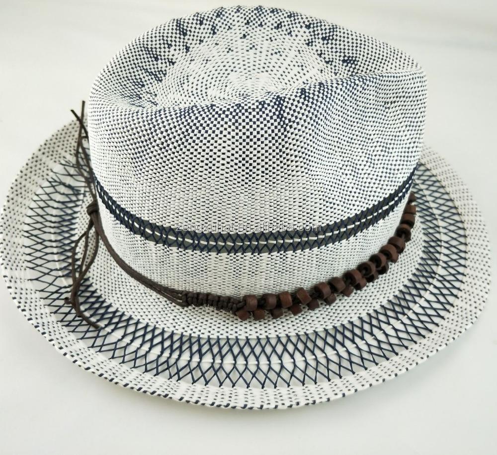 Nueva llegada promocional papel bangora sombrero, sombrero de ala ...