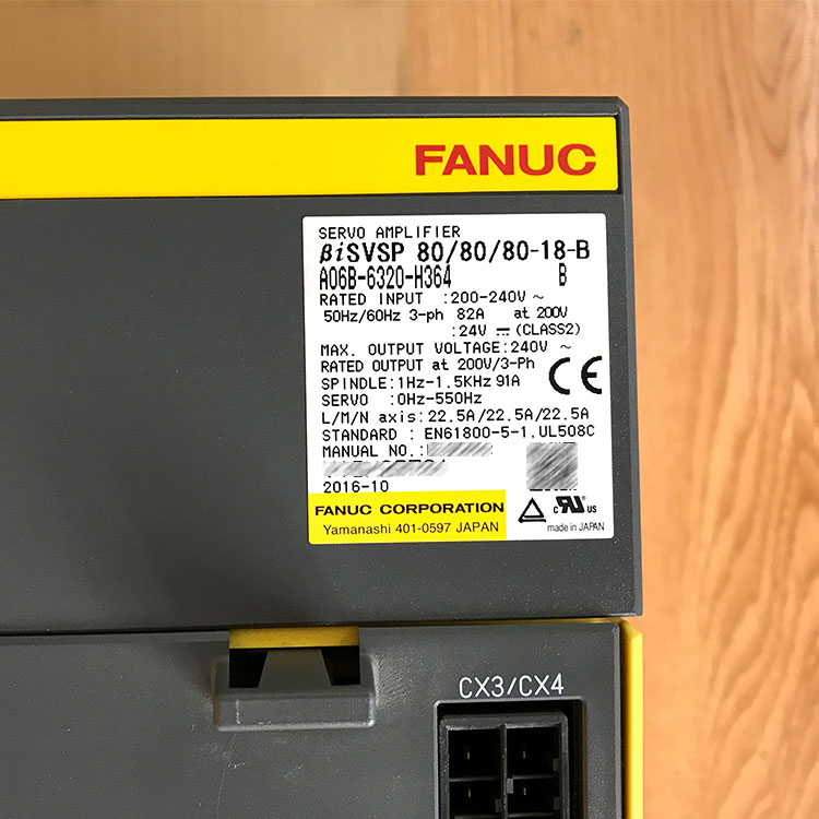 A06B-6320-H364 New original Fanuc spindle power servo amplifier, View Fanuc  servo amplifier, Fanuc Product Details from Dongguan Tommy CNC Machine