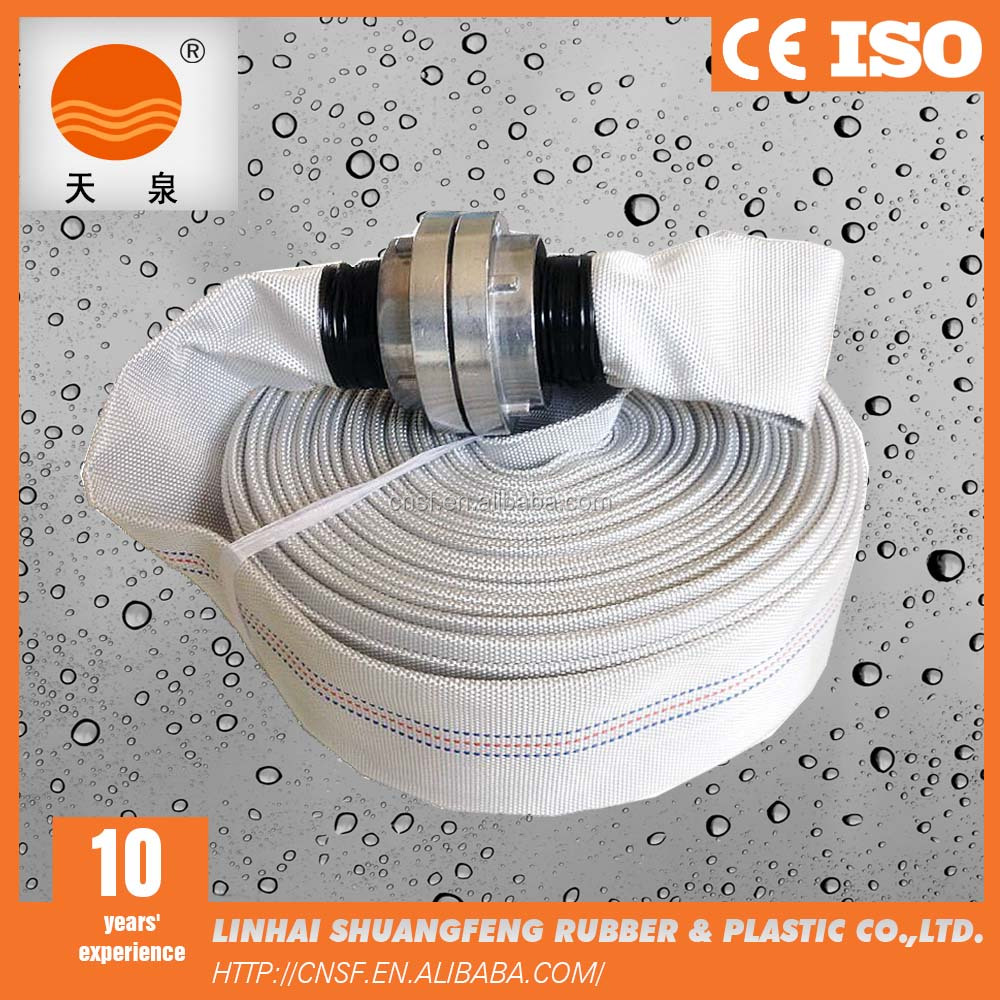 2 inch pvc lining white fire hose reel connected with storz couplings