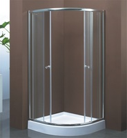 bright chrome frame cheap tempered glass shower enclosure