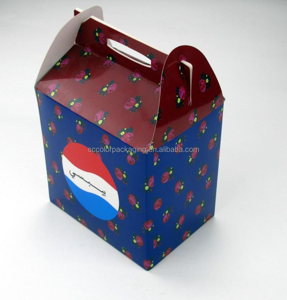 Professional design glossy lamination food cake packaging cardboard box