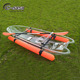 2.7M single transparent canoe kayak for 1 person rowing with clear bottom