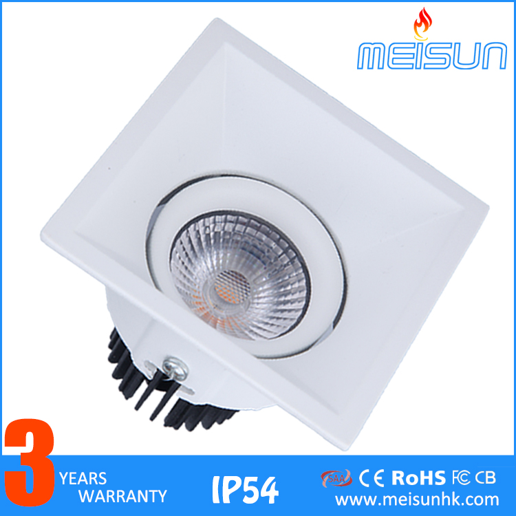 COB Lighting Aluminum Rotatable Recessed 3w 5w 7w 10w Indoor Kitchen Living Room BathroomLed <strong>Spotlight</strong>