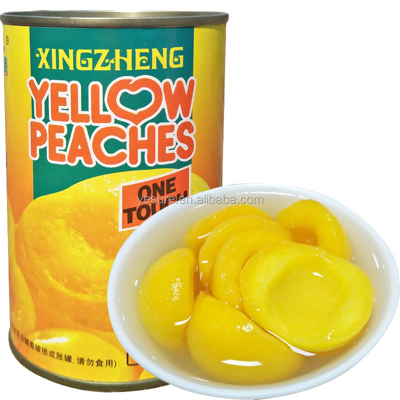 Canned Fruit Canned Yellow Peaches in Light Syrup halves 425g 12pcs per cartons low price
