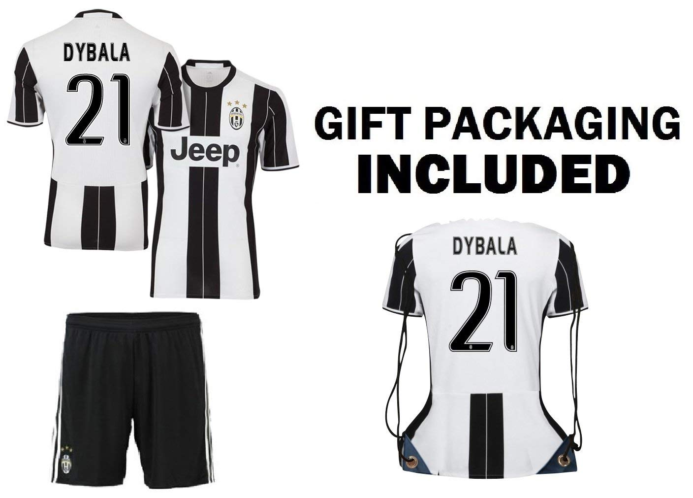 uk availability a27e6 be291 Buy Dybala Juventus Home Youth Soccer Jersey & Shorts & Kit ...
